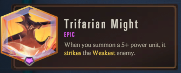 Trifarian Might (LoR Passive)