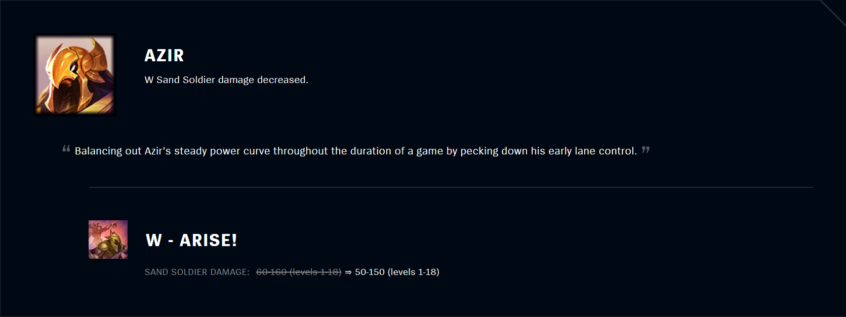 Patch 11.5 Azir