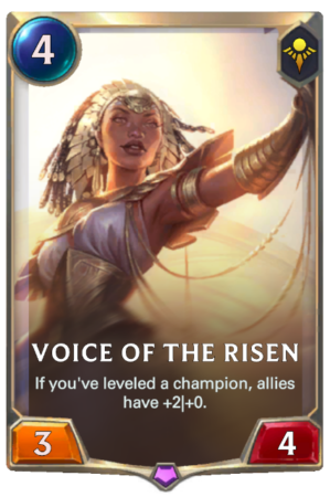 Voice of the Risen (LoR Card)