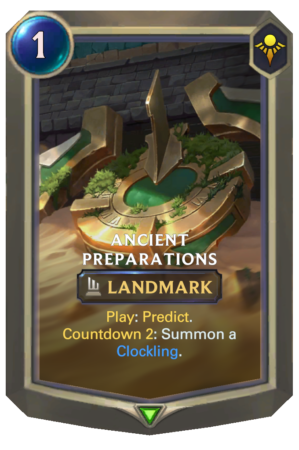 Ancient Preparations (LoR reveal)