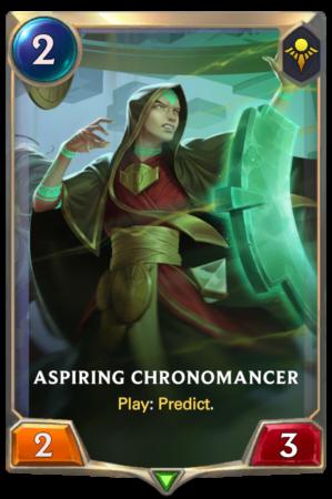 Aspiring Chronomancer (LoR reveal)