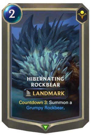 Hibernating Rockbear (LoR Card)