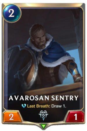 Avarosan Sentry (LoR Card)