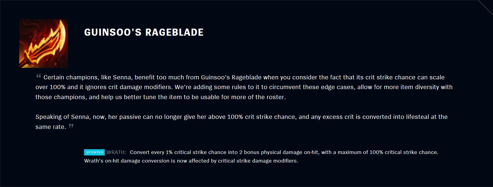 Patch 11.5 Guinsoo's Rageblade