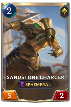 Sandstone Charger (LoR reveal)