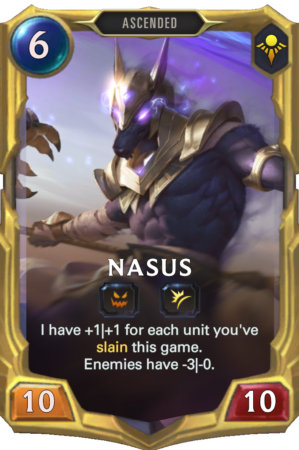 Nasus Level 3 (LoR reveal)
