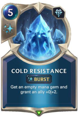 Cold Resistance (LoR Card)