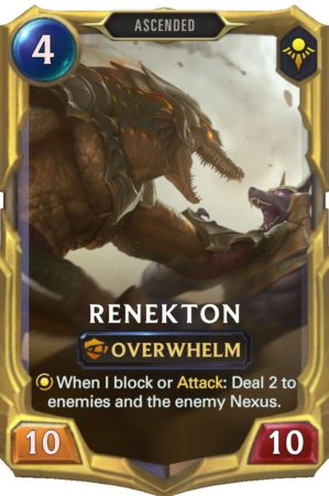 Renekton level 3 (LoR Card)