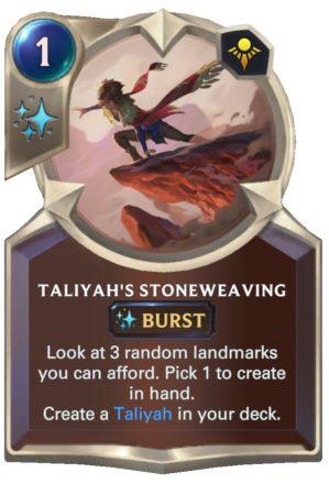 Taliyah's Stoneweaving (LoR Card)