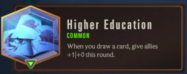 Higher Education (LoR Passive)