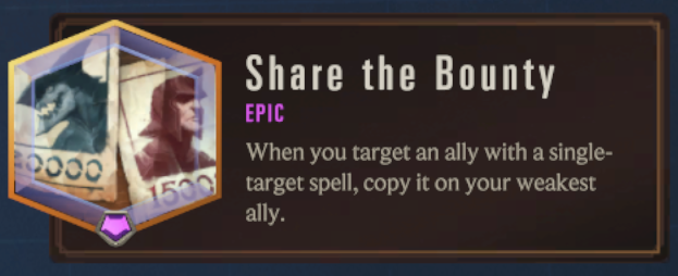Share the Bounty (LoR Passive)