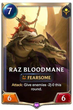 Raz Bloodmane (LoR Card)