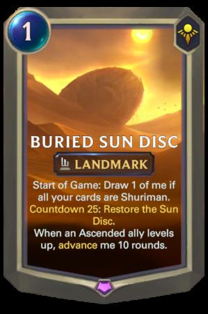 Buried Sun Disc (LoR Card)