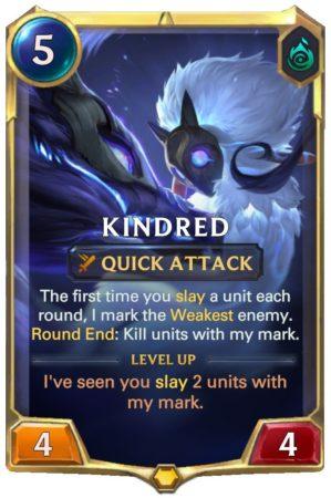 Kindred level 1 (LoR Card)