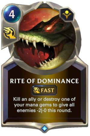 Rite of Dominance (LoR Card)