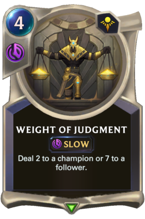 Weight of Judgment (LoR reveal)