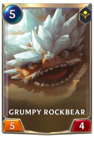 Grump Rockbear (LoR Card)