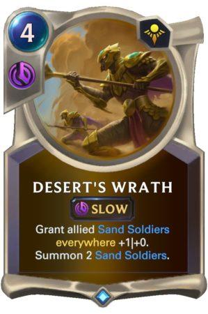 Desert's Wrath (LoR Card)
