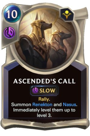 Ascended's Call (LoR Card)