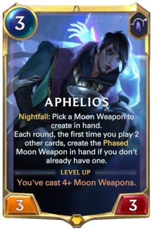 Aphelios level 1 (LoR Card)