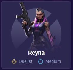 Reyna Medium difficulty card