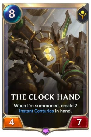 The Clock Hand (LoR Card)