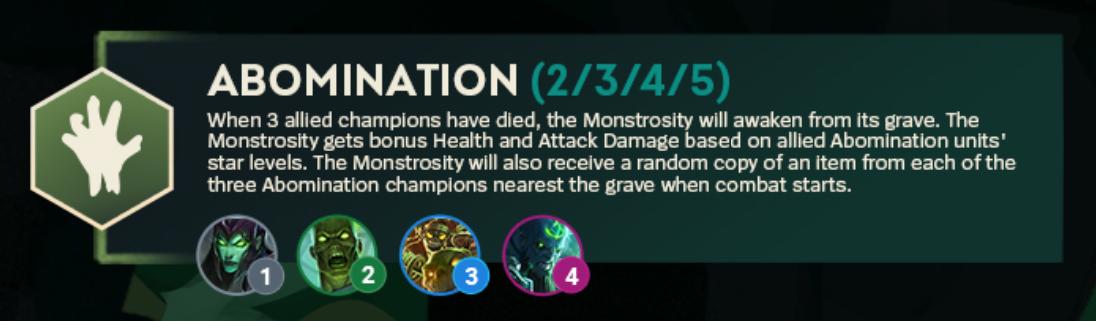 TFT Set 5 Abomination