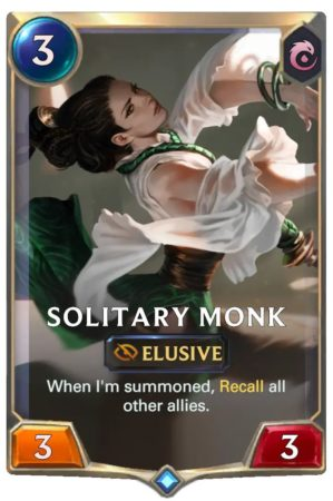 Solitary Monk (LoR Deck)