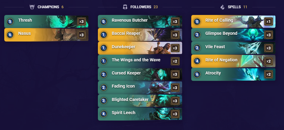 Nasus Thresh with the Winds and the Waves (LoR Deck)