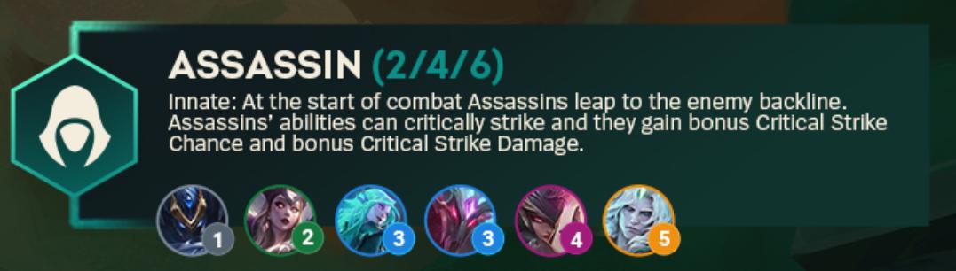 TFT Set 5 Assassin