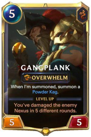 Gangplank level 1 (LoR Card)