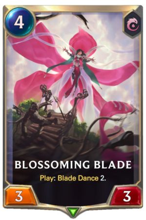 Blossoming Blade (LoR Card)