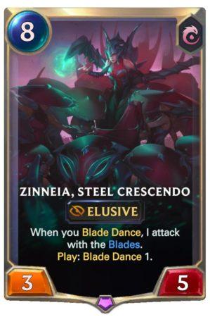 Zinneia, Steel Crescendo (LoR Card)