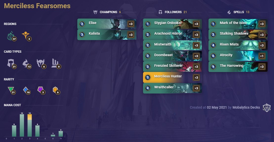 Merciless Fearsomes (LoR deck 5-2)
