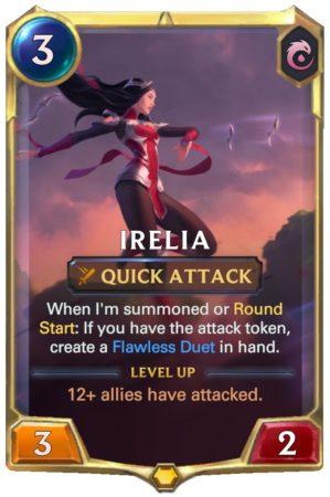 Irelia level 1 (LoR Card)