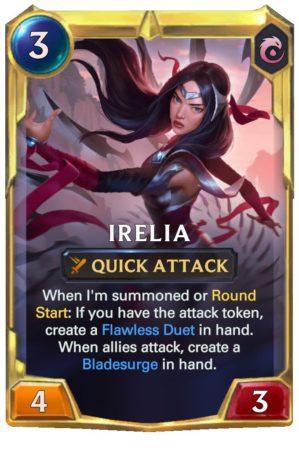 Irelia level 2 (LoR Card)