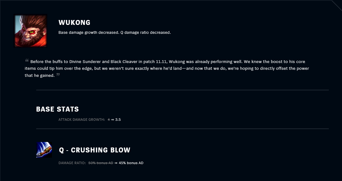 Patch 11.12 Wukong