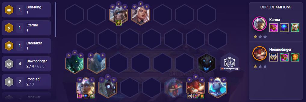 Dawnbringer Karma (tft patch 11.10)