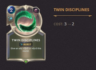 Twin Disciplines Patch 2.11 (LoR)
