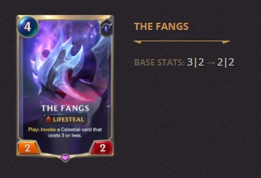 The Fangs Patch 2.11 (LoR)