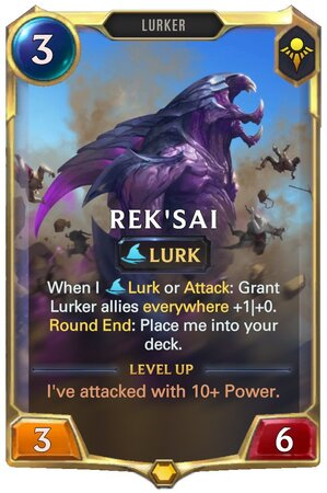 Rek'sai level 1 (LoR Card)