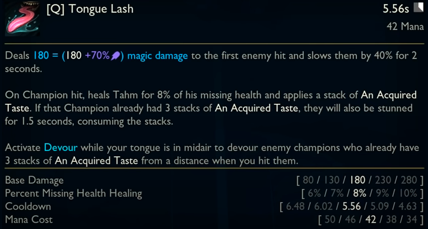 Runes tahm kench The Tahm