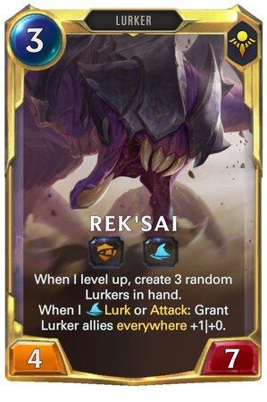 Rek'sai level 2 (LoR Card)