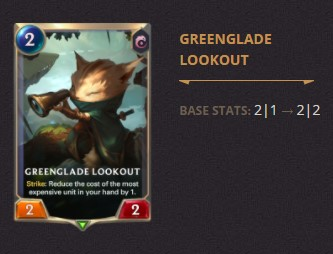 Greenglade Lookout Patch 2.11 (LoR)