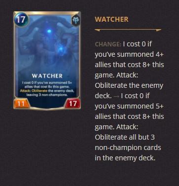 Watcher Patch 2.11 (LoR)