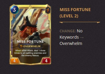Miss Fortune Patch 2.11 (LoR)