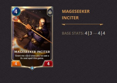 Mageseeker Inciter Patch 2.11 (LoR)