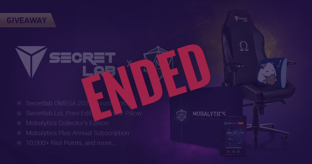 Secretlab x Mobalytics Giveaway