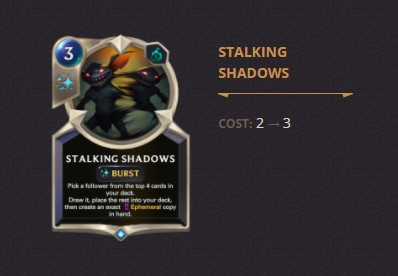 Stalking Shadows Patch 2.11 (LoR)
