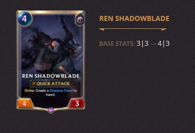 Ren Shadowblade Patch 2.11 (LoR)